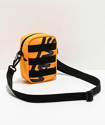 Vans Webbed bolso de hombro negro y amarillo de cuadros