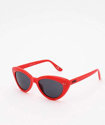 Vans Wildin Poppy Red & Black Sunglasses
