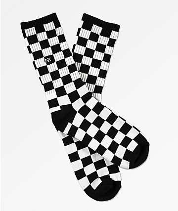 Vans calcetines de cuadros en blanco y negro para niños