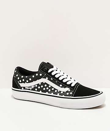 Vans x Baker Old Skool Dollin Pro Black Polka Dot Skate Shoes