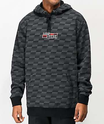 Vans x Baker Speed Check Black & Grey Hoodie
