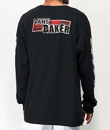 Vans x Baker Speed Check Black Long Sleeve T-Shirt
