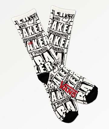 Vans x Baker calcetines negros y blancos