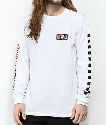 Vans x Independent Check camiseta blanca de manga larga
