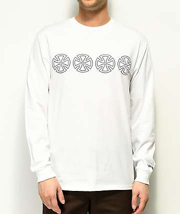 Vans x Independent White Long Sleeve T-Shirt