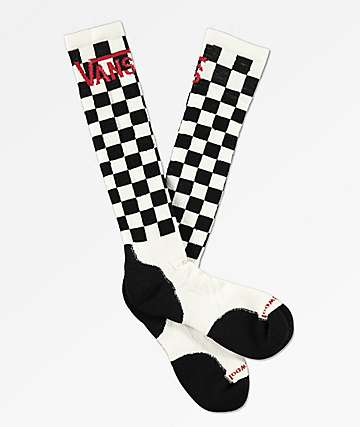 Vans x Smartwool Medium White & Black Checkered Snowboard Socks