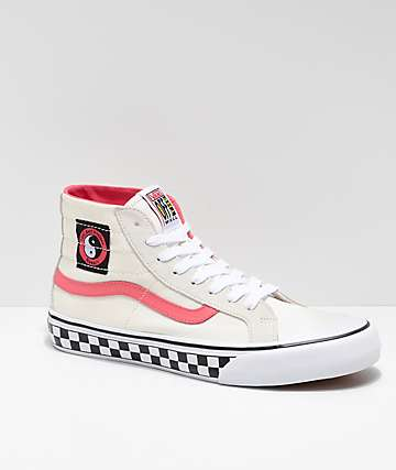 Vans x T&C Surf Designs Sk8-Hi 138 Deconstructed Cream & Pink Skate Shoes