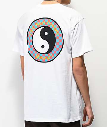 Vans x T & C Checkerboard camiseta blanca