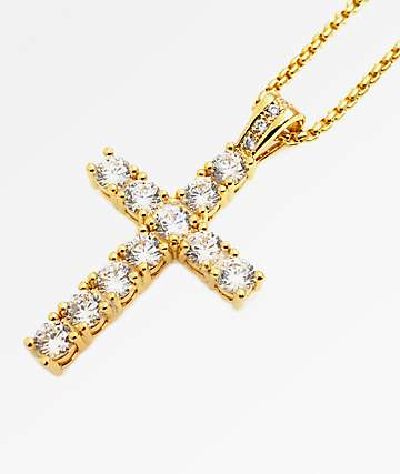 Veritas Remus Cross Gold Necklace