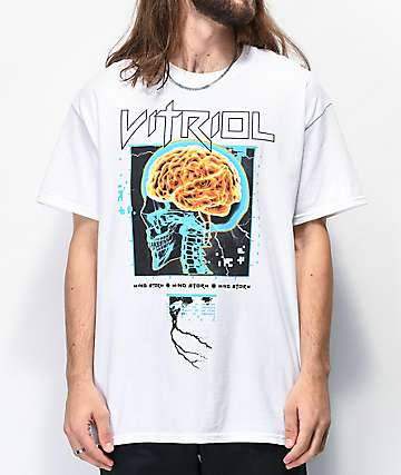 Vitriol Mind Storm White T-Shirt