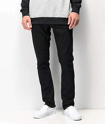 Volcom 2x4 Black Denim Skinny Jeans