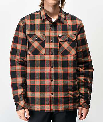 Volcom Belgrade Black Flannel Jacket
