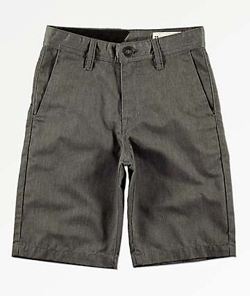 Volcom Boys Charcoal Chino Shorts
