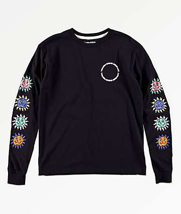 Volcom Boys Kook Gang Black Long Sleeve T-Shirt