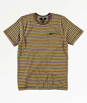 Volcom Boys Moore Stripe Teak T-Shirt