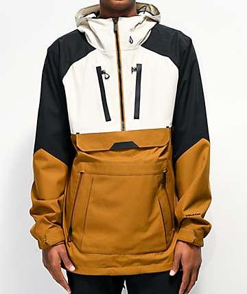 Volcom Brighton Caramel Brown & Black 15K Snowboard Jacket