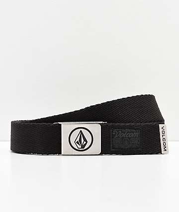 Volcom Circle Black Web Belt
