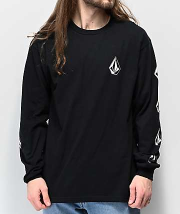 Volcom Deadly Stones Black Long Sleeve T-Shirt