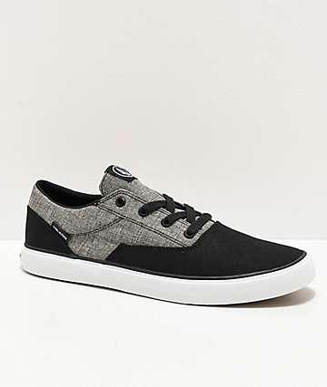 Volcom Draw Lo zapatos negros y grises