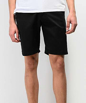 Volcom Frickin Drifter All Black Chino Shorts