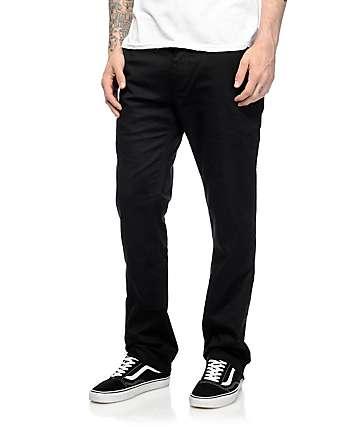 Volcom Frickin Modern pantalones elásticos chinos negros