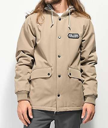 Volcom Highstone Khaki Softshell Snowboard Jacket