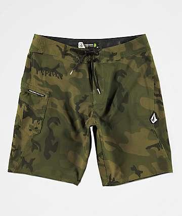 Volcom Lido Solid Mod shorts de baño de camuflaje