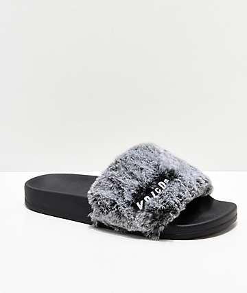 Volcom Lil Slide Heather Grey Slide Sandals