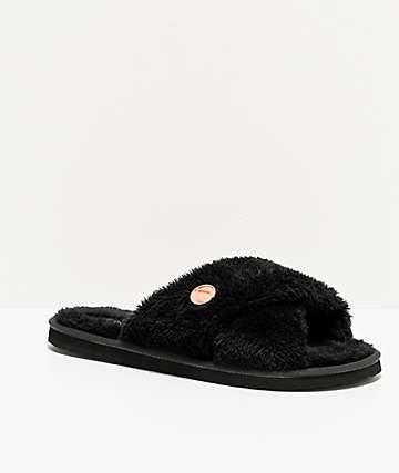 Volcom Lil Slip Black Slipper Sandals