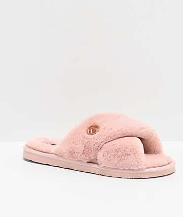 Volcom Lil Slip Pink Cloud sandalias de pantufla