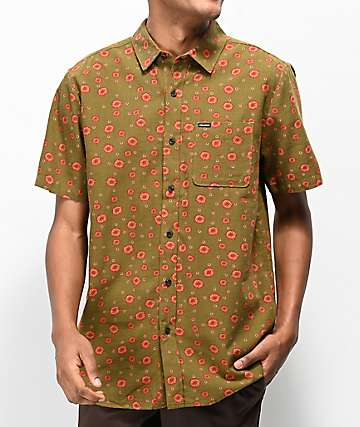 Volcom Psych Dot camisa de manga corta en verde militar