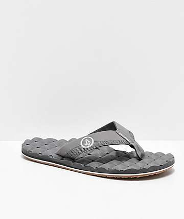 Volcom Recliner Light Grey & Gum Sandals