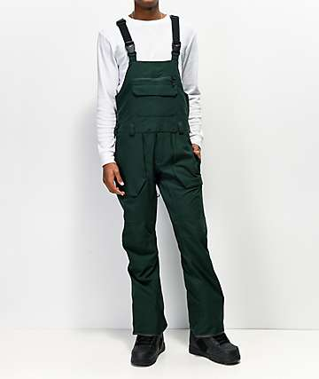 Volcom Roan Dark Green 15K Snowboard Bib Pants