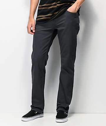 Volcom Solver Slub jeans de mezclilla gris
