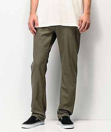 Volcom Solver jeans de mezclilla verde militar