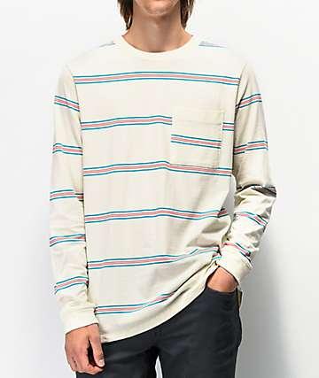 Volcom Tehas camiseta blanca de manga larga