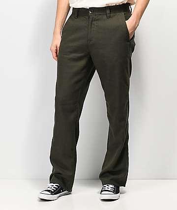 Volcom Thrifter Plus pantalones verdes de pata de gallo