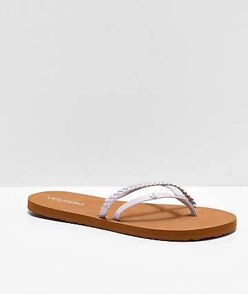 Volcom Thrills Purple Sandals