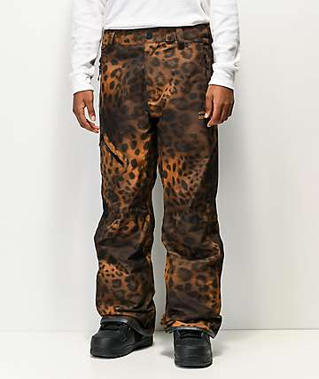 Volcom Vintage Cheetah Print Gore-Tex Snowboard Pants