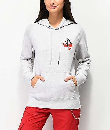 Volcom Vol Stone Light Grey Hoodie