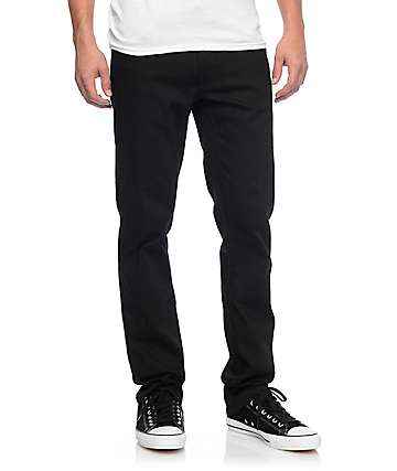 Volcom Vorta Black On Black S Gene Slim Fit Jeans
