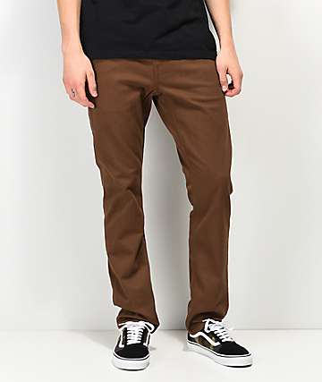 Volcom Vorta Slub Dark Brown Denim Jeans