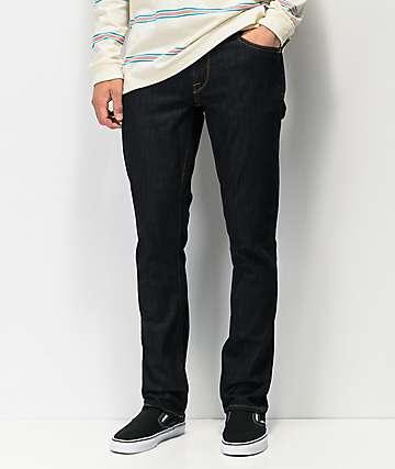 Volcom Vorta jeans de mezclilla azul oscuro