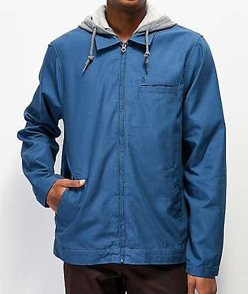 Volcom Warren chaqueta entrenador con capucha azul
