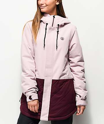 Volcom Winrose 10K chaqueta de snowboard rosa