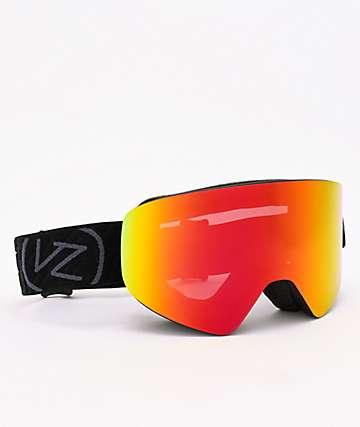 Von Zipper Encore Black & Fire Chrome Snowboard Goggles