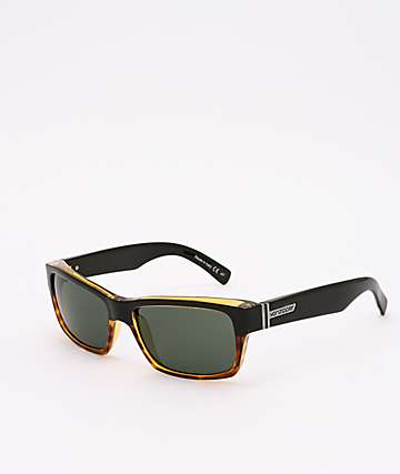 Von Zipper Fulton Hardline Black Tortoise & Grey Sunglasses