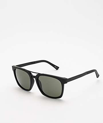 Von Zipper Plimpton Black Satin & Vintage Grey Sunglasses