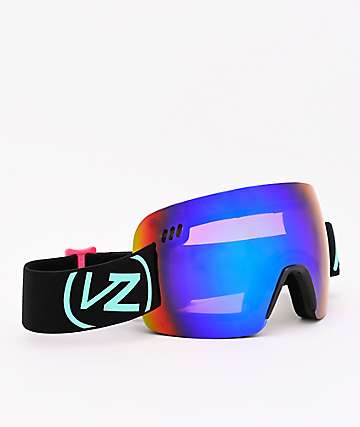 VonZipper Alt XM Neon Miami Black Satin & Wildlife Quasar Chrome Snowboard Goggles
