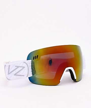 VonZipper Alt XM White Gloss & Wildlife Black Fire Chrome Snowboard Goggles